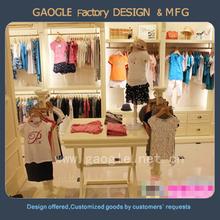 top quality wooden design kids garments clothes shop display