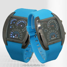 new arrival freeshipping cheap price fashion design pu plastic band car watches with led digital movement