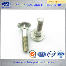 "ASTM A307 Gr.A 1/4"" Stainless Steel ZincPlated Carriage Bolt"