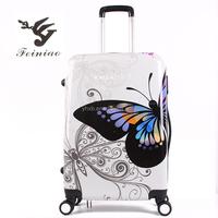 Hard Fashion Pinted PC Travel Luggage /Pinted PC Luggage set/Pinted suitcases
