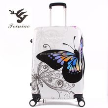 Hard Fashion Pinted PC Travel Luggage /Pinted PC Luggage set/Pinted suitcases