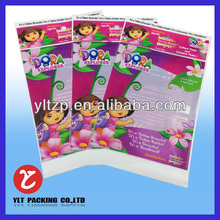 print ing header card packaging /custom header card plastic bags