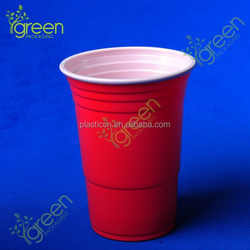 disposable red plastic cup
