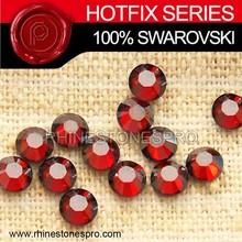 Genuine Swarovski Elements Light Siam SATIN (227 SAT) 6ss Crystal Iron On Hot Fix Rhinestone