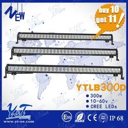 2015 latest led driving light bar 300w c.r.e.e front roof led light bar 55inch led industrial light