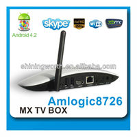 dual core amlogic Android 4.2.2 TV Box -Support Xbmc, customized launcher smart box