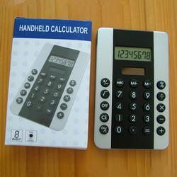 Promotional mini desktop calculator with 8 digits