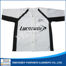 Plain sublimated custom baseball jersey