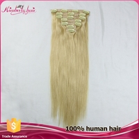 soft and excellent quality clip-on 100% brazilian hair extension