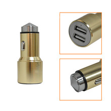 New Aluminum Alloy Lifesaving Hammer Car Charger with Dual USB