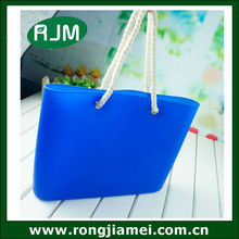 Casual silicone rubber shopping bag. lady tote bag