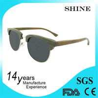 Natural green ebnoy wooden sunglasses clubmaster