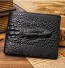 Crocodile Skin Durable Genuine Leather Men Wallet