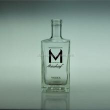 EMPTY WHISKY GLASS SQUARE BOTTLE 750ML 750 ML