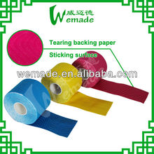 ce/fda/iso Factory Manufacture sports strapping tape/Hot-melt Adhesive 5cm*5m Kinesiology Tape blue/ green/ beige