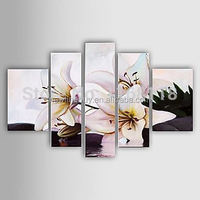 100% Hand-painted flower abstract room decoration Paintings on canvas hotel decor