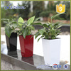 Made in china Round baking finish self-watering planters