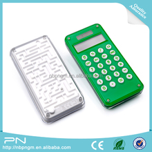 8 digital calculator with maze for promotion, promotional 8 digit calculator with maze