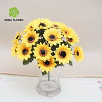 Wedding&Party Decorative Flower Artificial Sunflower Bush Arrangements - 18 Sunflower Heads