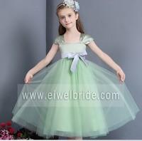 S1729 Beautiful cap sleeve ribbon tulle flower girl dress patterns free