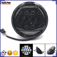 """BJ-HL-016 Recommended 7"""" Projector Round Headlight 75W Motorcycle LED Driving Light for Harley"""