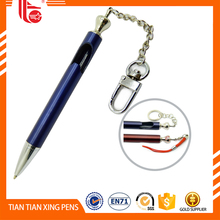 Keychain metal ball pen,metal ball pen with key ring