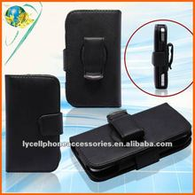 Carbon horizontal leather cell phone holster case for iphone 4g
