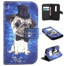 for Motorola G3 The Dog Style Leather Case