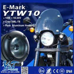 Factory wholesale 10w high power motorcycle led driving light for Harley Davidson