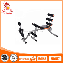 2015 hot sale six pack care abdominal fitness stretching machine back stretcher with bicycle