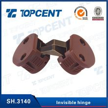 Furniture cabinet accessory zinc alloy and plastic cabinet concealed hinge