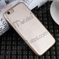 for iPhone 6 Plastic Case PC Cover, Ultrathin Leather-coated Hard Back Case for iPhone 6 iPhone 6 Plus