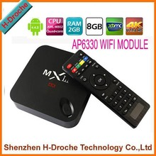 2015 2GB/8GB skype Amlogic S802 mxiii Quad Core tv box with XBMC android media player full hd 1080p tv tuner box for lcd monitor