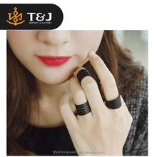 Hot selling new Fashion Ring Set Black ring Knuckle wonder woman ring