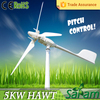 Rated 5KW peak 6KW variable pitch wind turbine generator