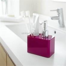 new design hotel acrylic bathroom accessories sets