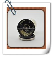 glass spice grinder with steel lid /mini manual spice grinder