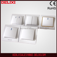 Wholesale support ELIXI W-T80K2 European standard 1 gang 2 way push button switch cover electric electrical switch making machin