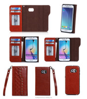 Guangzhou Excellent Quality Manufacture Price 2 in 1 Multi Colors PU Leather Flip Case For Samsung S6