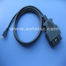 OBD2 test cable OBD to mini USB cable