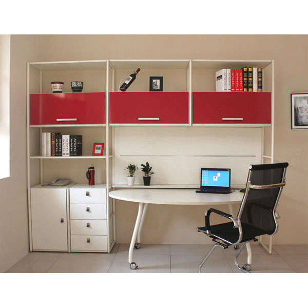 Modern Study Design Bookcase With Study Table - Buy Bookcase With ...