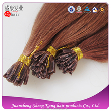 Best Quality Factory Selling Fashion keratin hair extension,remy u tip keratin human hair extension 5A #33