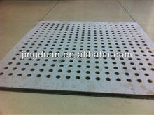 Asbestos free Noncombustible Class A1 fireproof perforated gypsum board for modern building houses