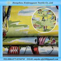 XFY golf 100% cotton print fabric