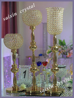 2015 New crystal columns wedding decorations for gold crystal vase stands