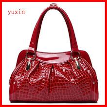 Ladies luxury genuine crocodile skin handbag