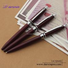Low MOQ matt surface souvenir new style metal pen