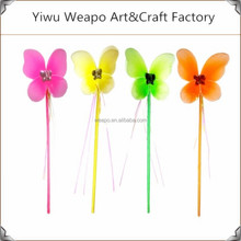 2015 New Fashion Design Kids Party Favor Wholesale Colorful Fairy Butterfly Wand