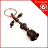 customized metal smart key chain with wooden arts