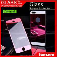 Mirror color clear top selling tempered glass screen protector